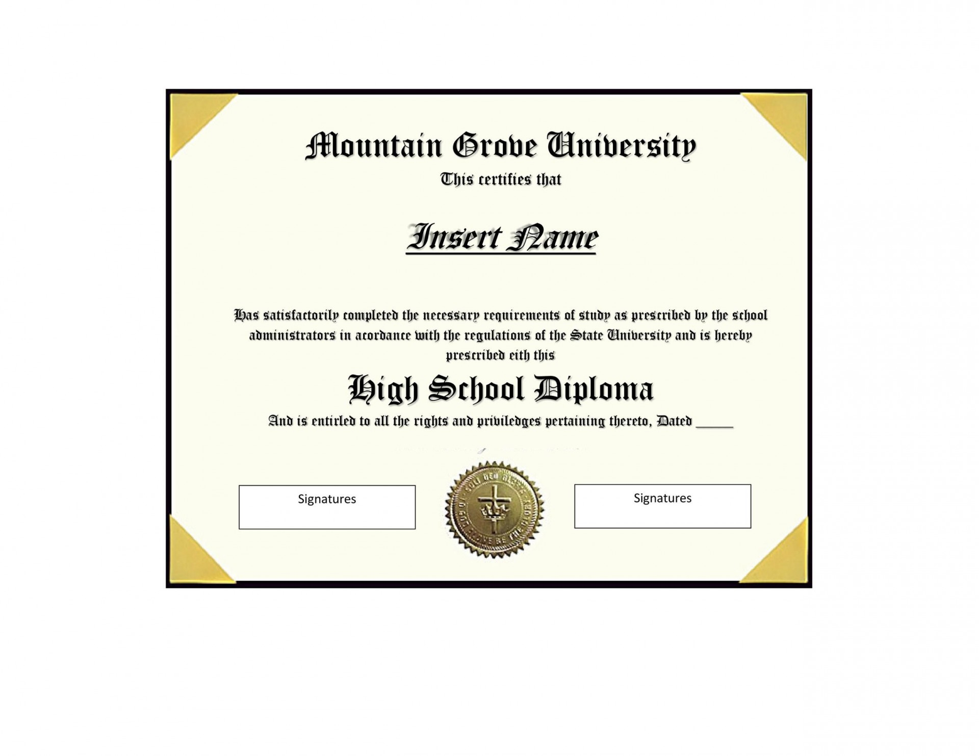 008 Striking Free High School Diploma Template Highest Clarity  Templates Print Out Editable Printable1920