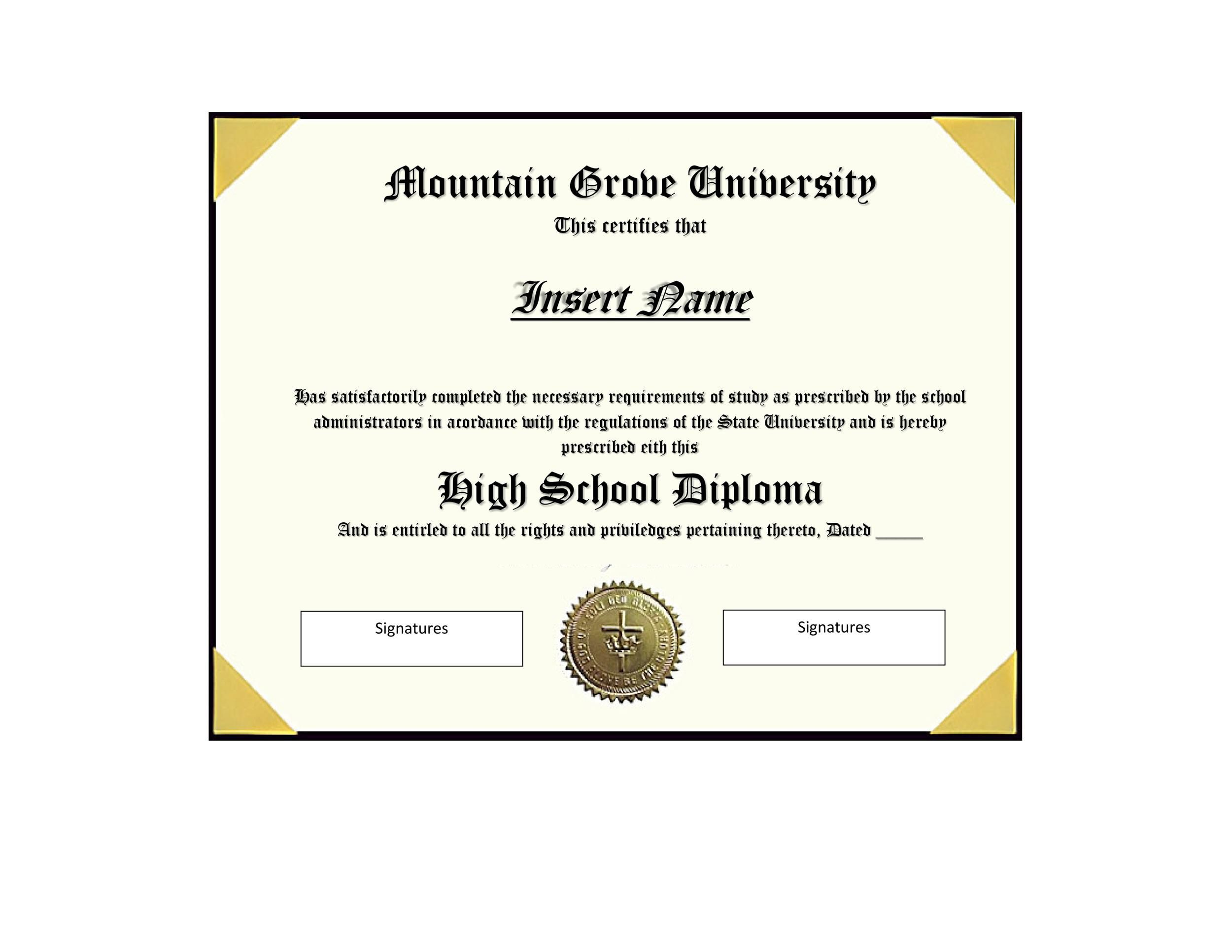008 Striking Free High School Diploma Template Highest Clarity  Templates Print Out Editable PrintableFull