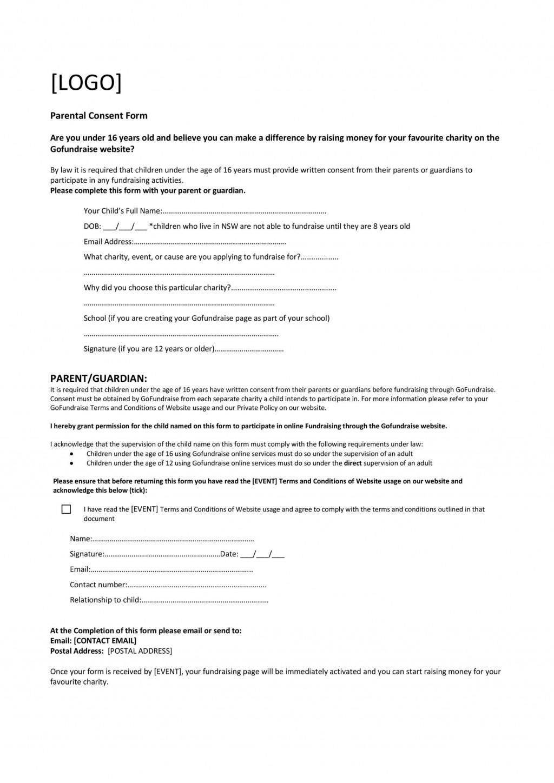 008 Striking Free Medical Consent Form Template Design  Child Pdf UkLarge