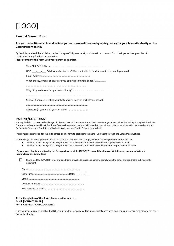 008 Striking Free Medical Consent Form Template Design  Uk Child Pdf