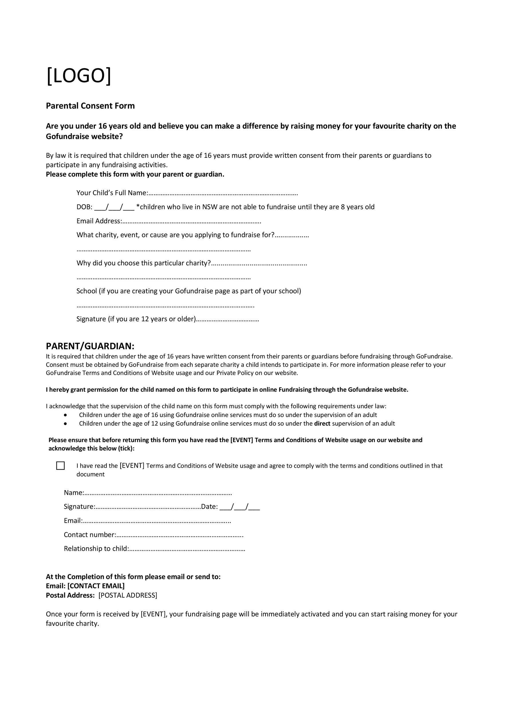 008 Striking Free Medical Consent Form Template Design  Child Pdf UkFull