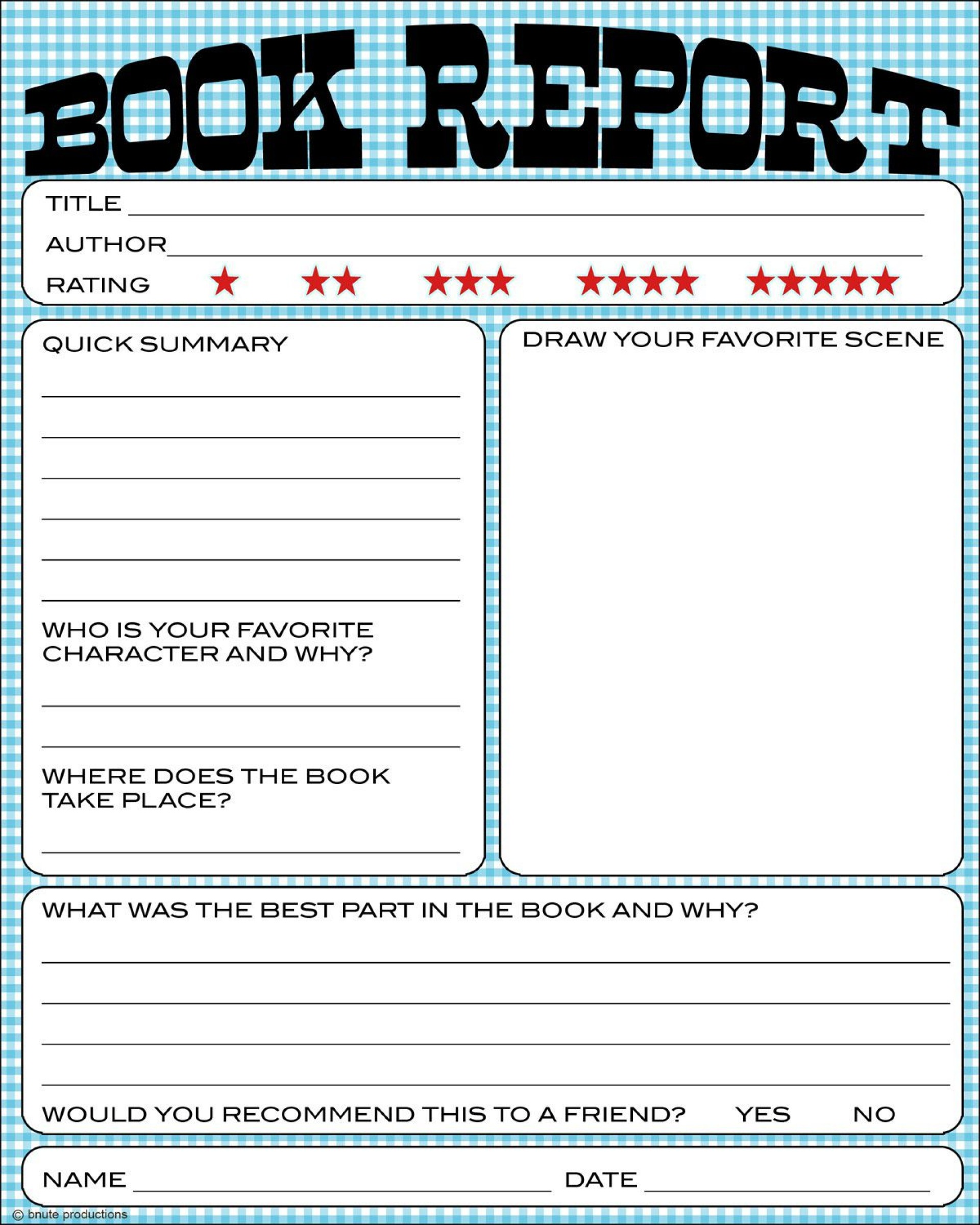 008 Striking Free Printable Book Report Template For 6th Grade Picture 1920