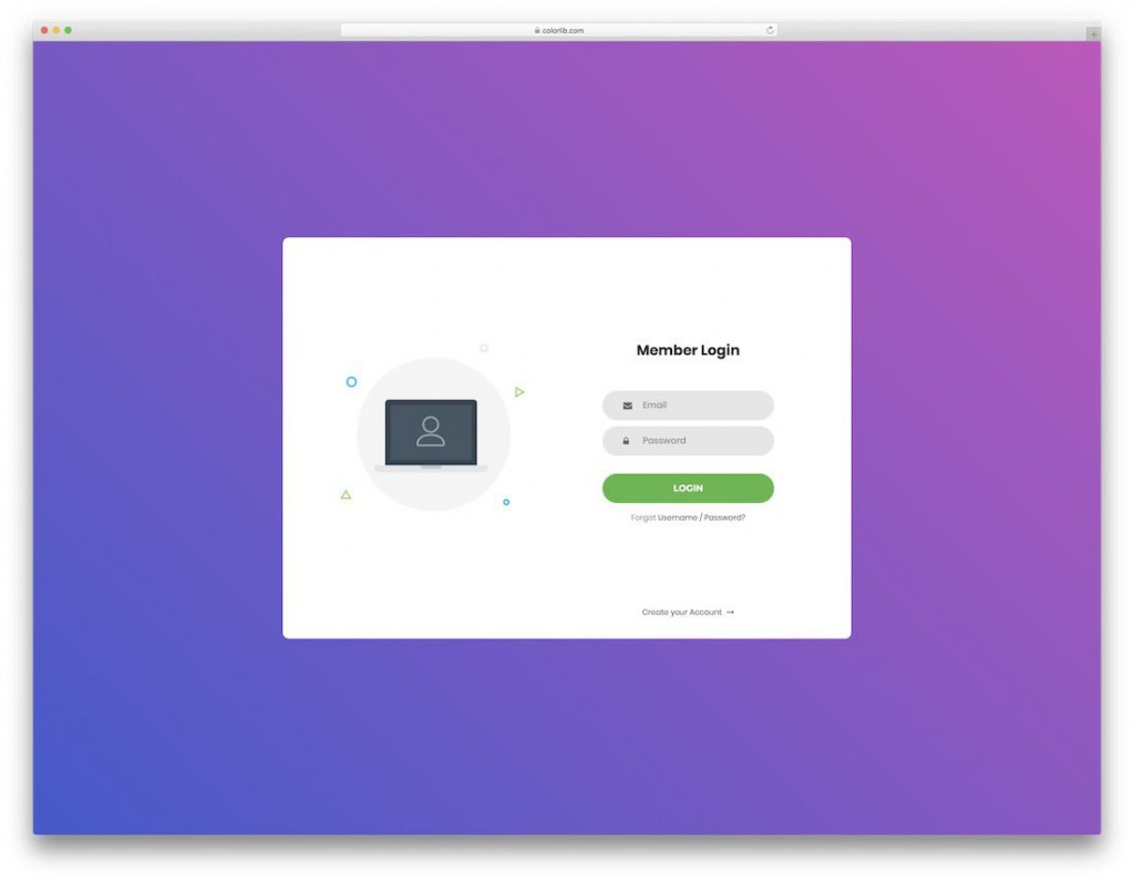 008 Striking Html Login Page Template Highest Quality  Download Without Cs Bootstrap 4Large