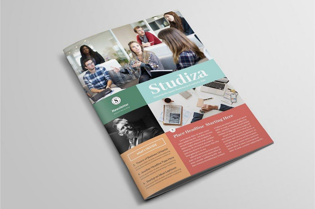 008 Striking Indesign Cs6 Newsletter Template Free Download Sample Full