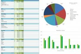 008 Striking Line Item Budget Form Idea  Sample Template Spreadsheet Format