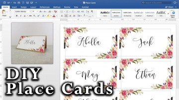 008 Striking Microsoft Word Place Card Template High Definition  Table Free Print Name360