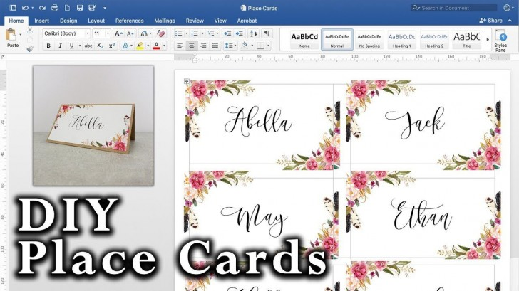 008 Striking Microsoft Word Place Card Template High Definition  Table Free Print Name728