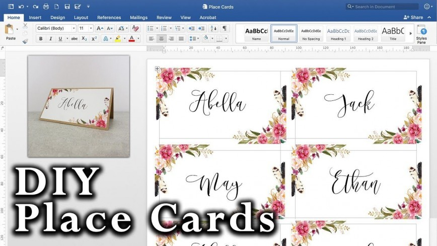 008 Striking Microsoft Word Place Card Template High Definition  Table Free Print Name868