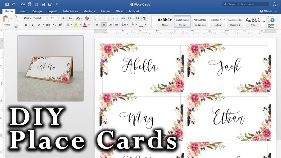008 Striking Microsoft Word Place Card Template High Definition  Table Free Print Name960