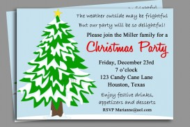 008 Striking Office Christma Party Invitation Wording Sample Highest Quality  Holiday Example