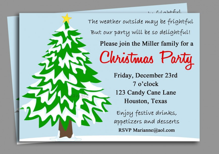 008 Striking Office Christma Party Invitation Wording Sample Highest Quality  Holiday Example868