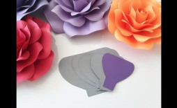 008 Striking Paper Flower Template Free Example  Large Extra Printable