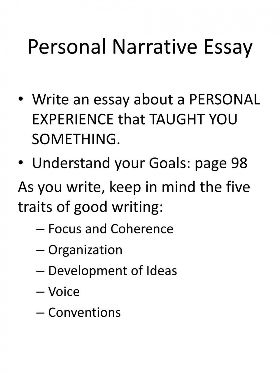 008 Striking Personal Narrative Essay High Resolution  Structure Sample School Prompt960