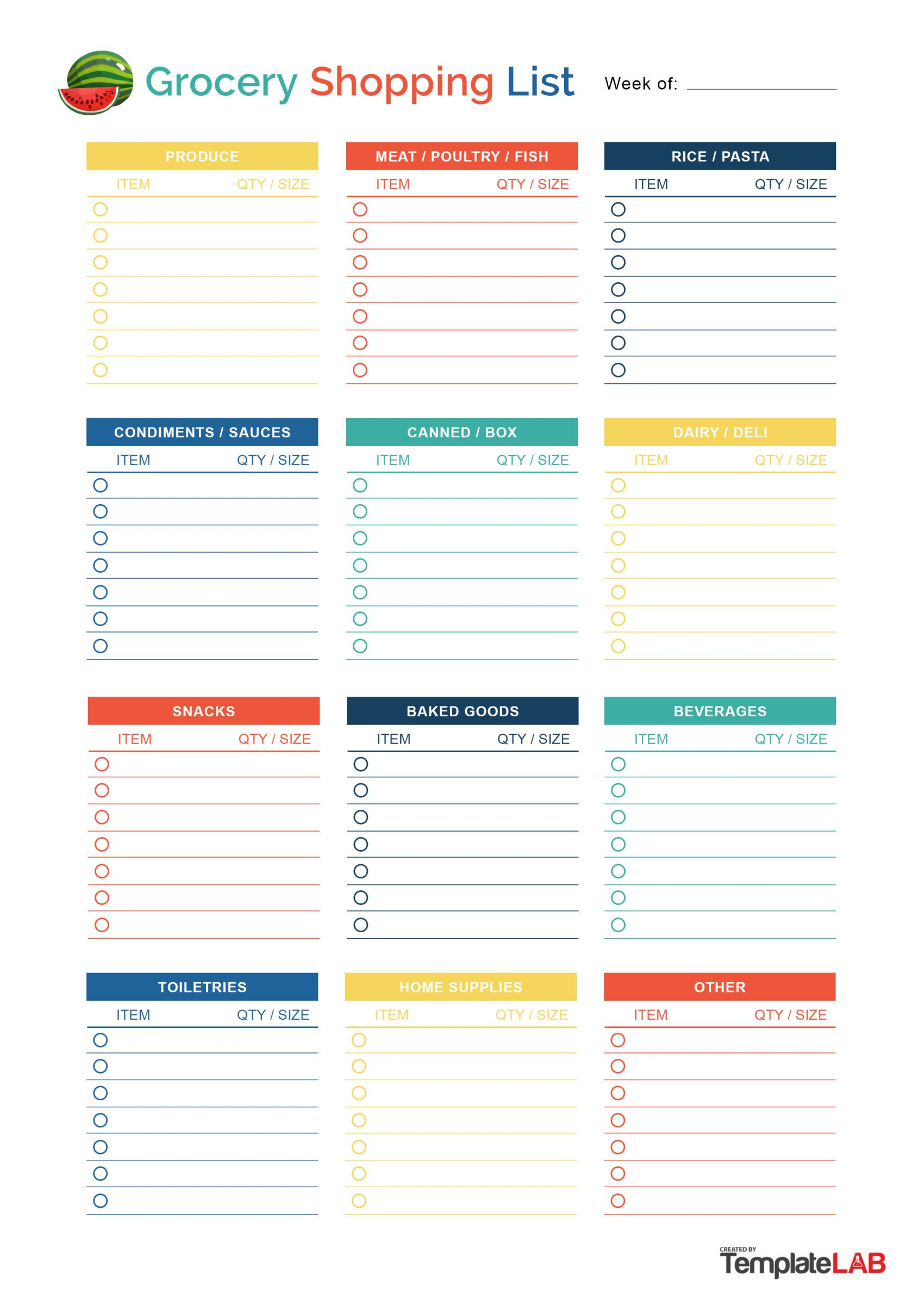 008 Striking Printable Grocery List Template Idea  Free Shopping Cute By DepartmentFull