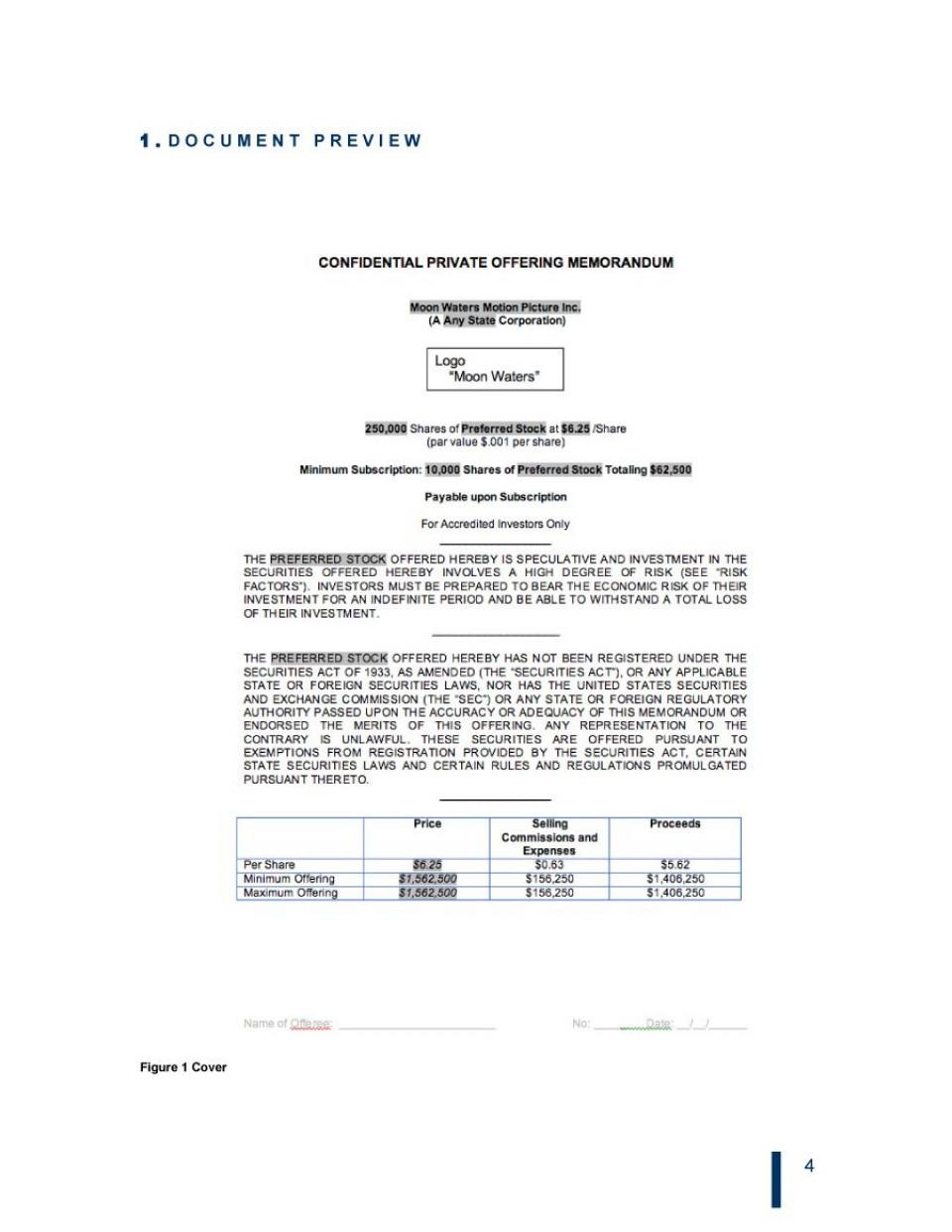 008 Striking Private Placement Memorandum Template Real Estate Design 960