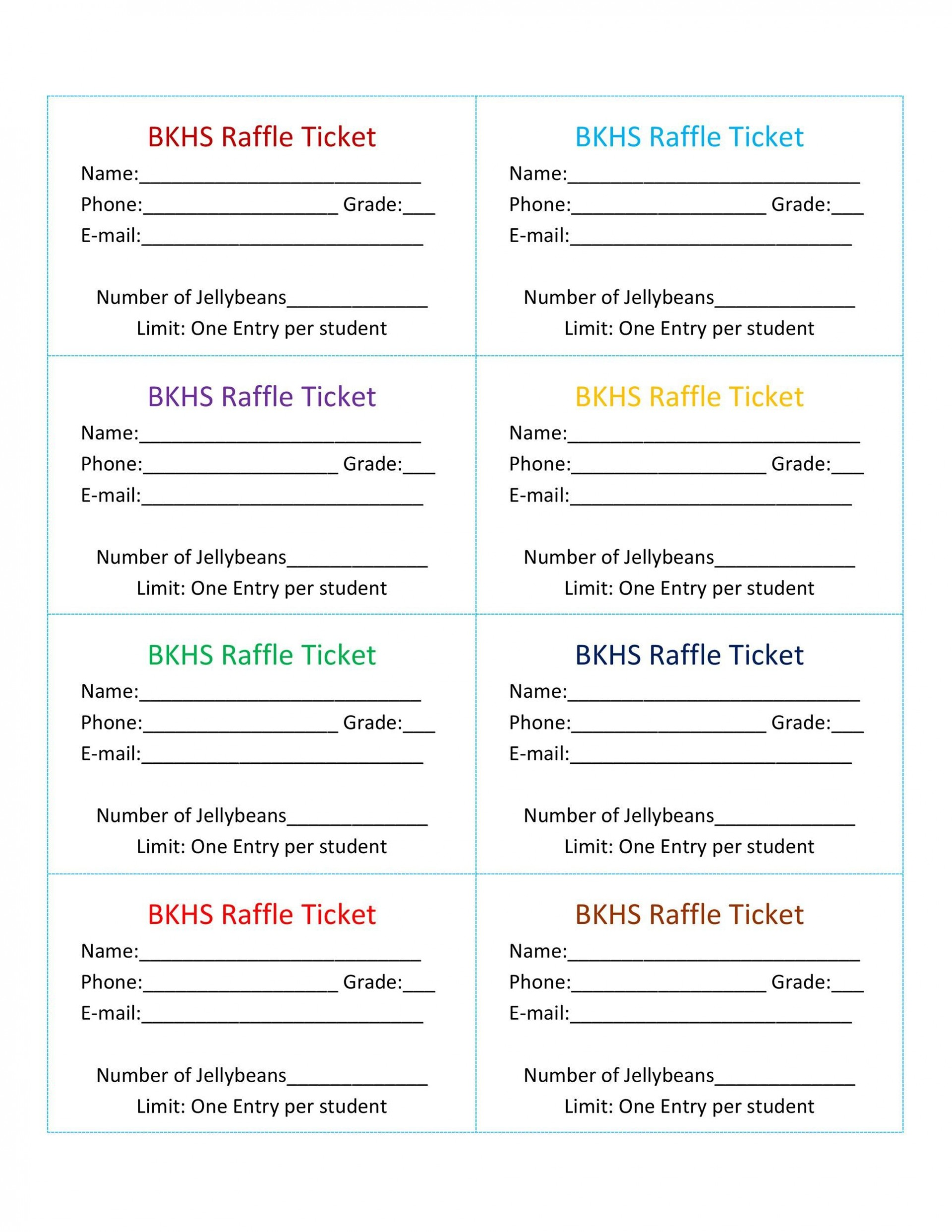 008 Striking Raffle Ticket Template Word Example  8 Per Page Format1920