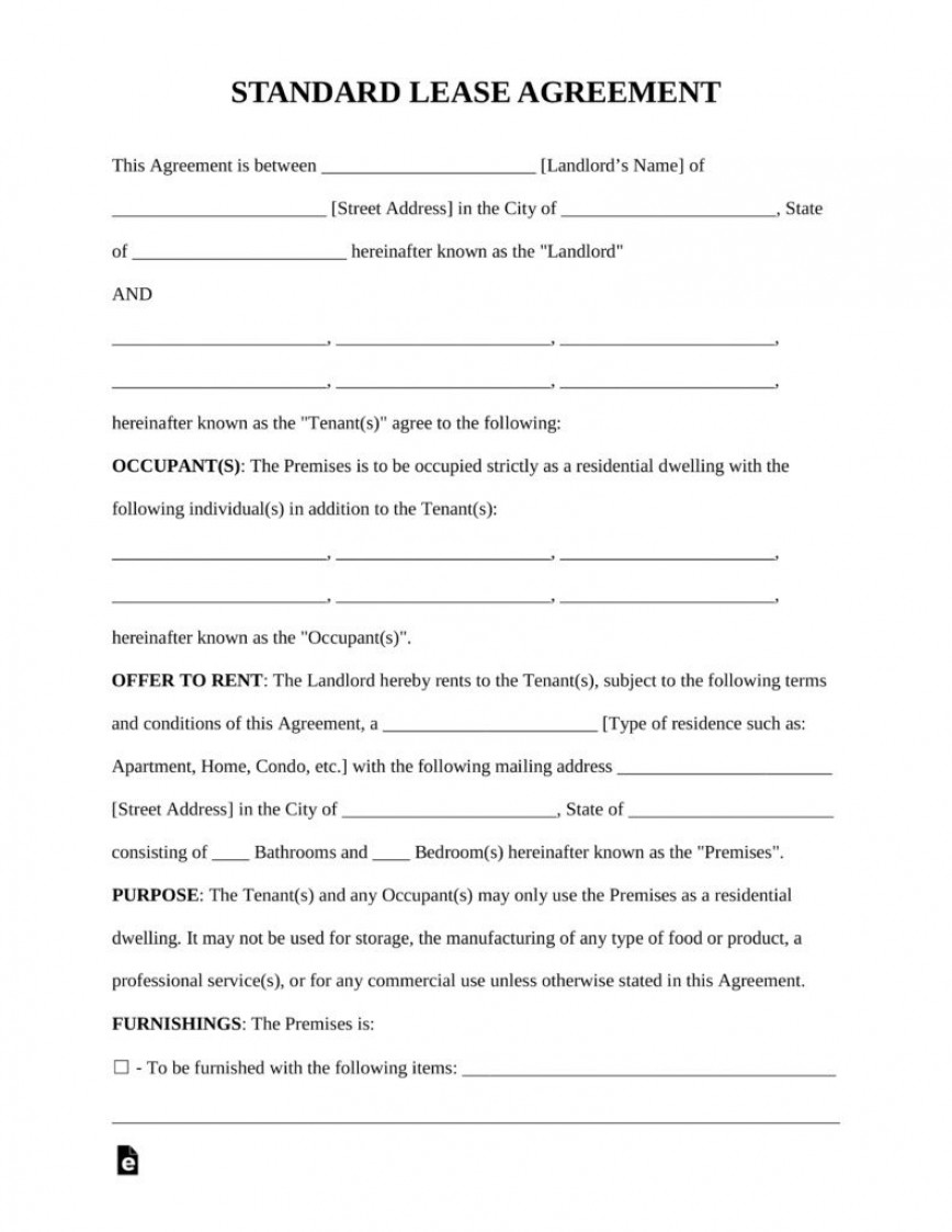 008 Striking Rent Lease Agreement Format Example  House Rental In English Pdf Free Download