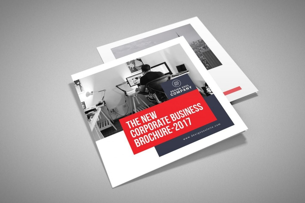 008 Striking Square Brochure Template Psd Free Download Picture Large