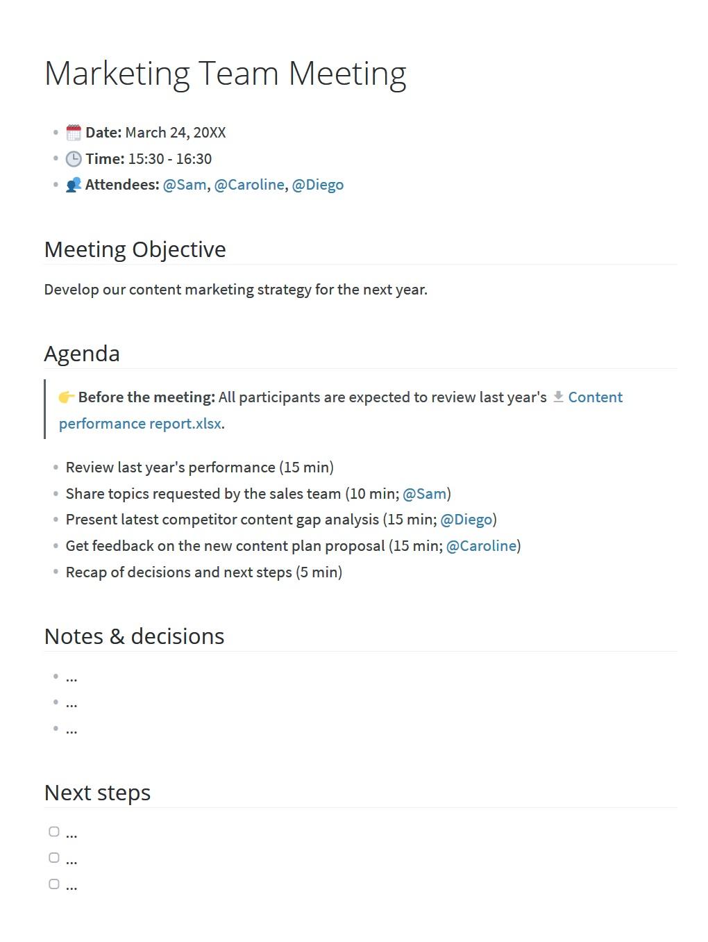 008 Striking Staff Meeting Agenda Template Photo  Example Pdf Sample FormatFull