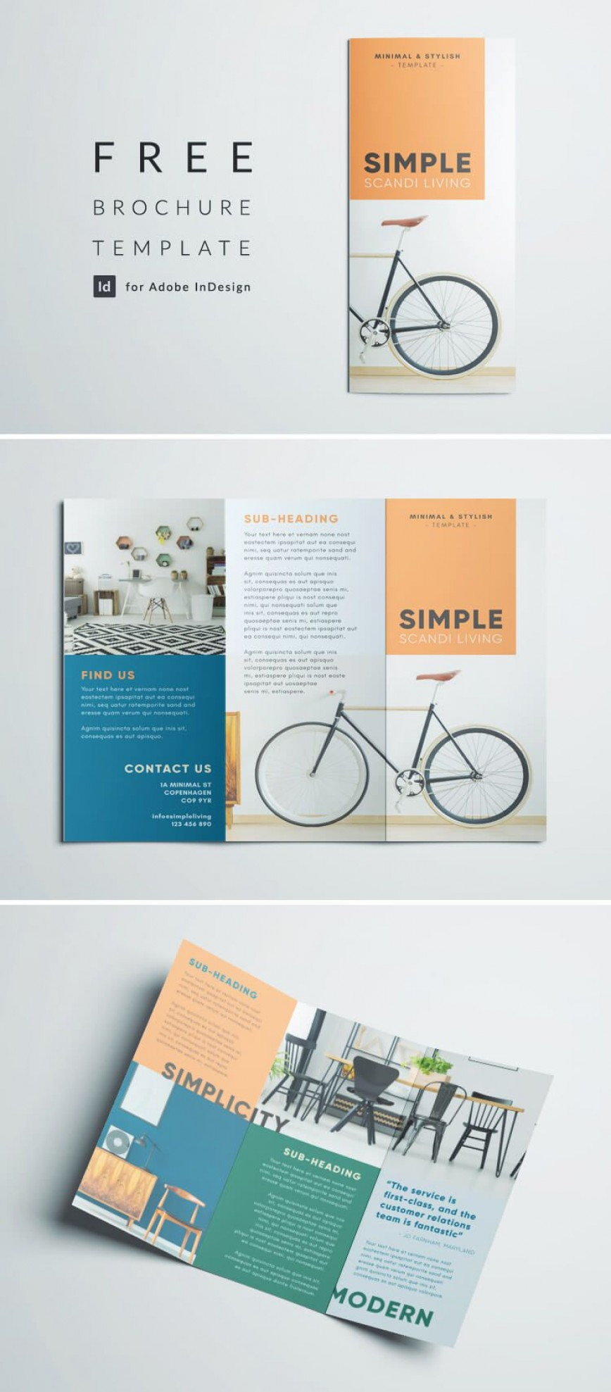 008 Striking Three Fold Brochure Template Free Download Concept  3 Publisher Psd868