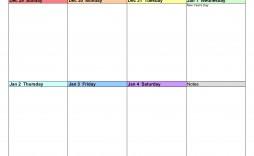 008 Striking Weekly Calendar Template 2020 Highest Clarity  Printable Blank Free