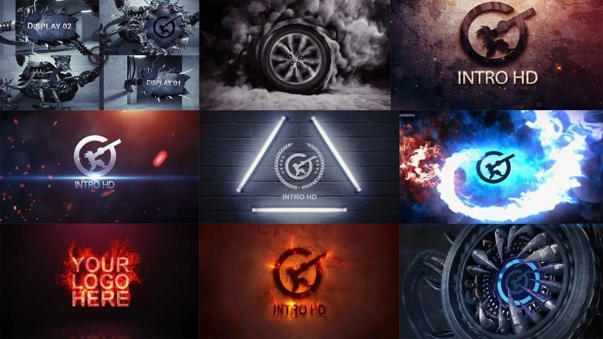 008 Stunning After Effect Template Free Download High Definition  Downloads Logo Intro Birthday Slideshow1920
