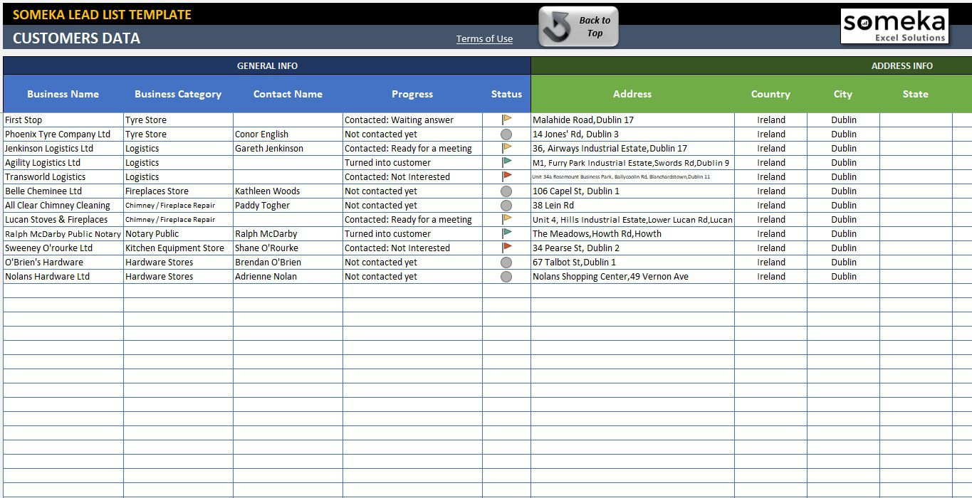 008 Stunning Excel Customer Database Template Image  Xl Free DownloadFull