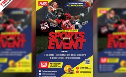 008 Stunning Football Flyer Template Free High Resolution  Download Flag Party