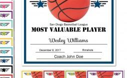 008 Stunning Free Printable Basketball Certificate Template Sample  Templates