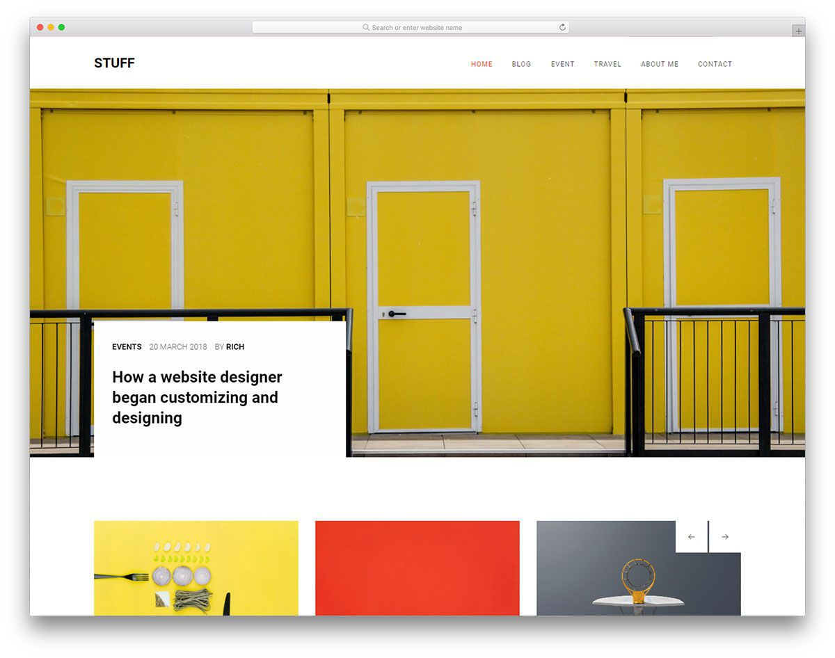 008 Stunning Free Website Template Download Html And Cs With Slider Idea  Jquery ResponsiveFull