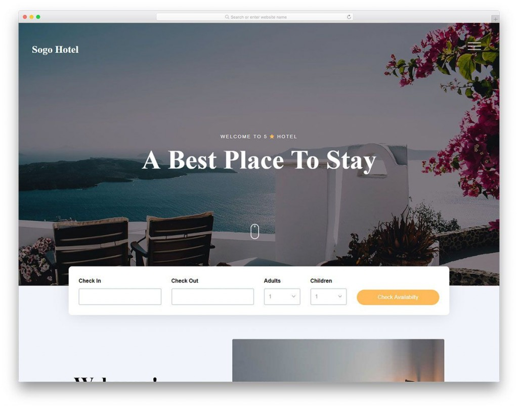 008 Stunning Hotel Website Template Html Free Download Picture  With Cs Responsive Jquery And RestaurantLarge