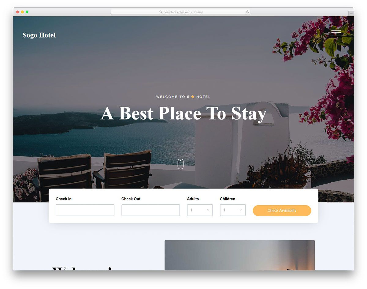 008 Stunning Hotel Website Template Html Free Download Picture  With Cs Responsive Jquery And RestaurantFull