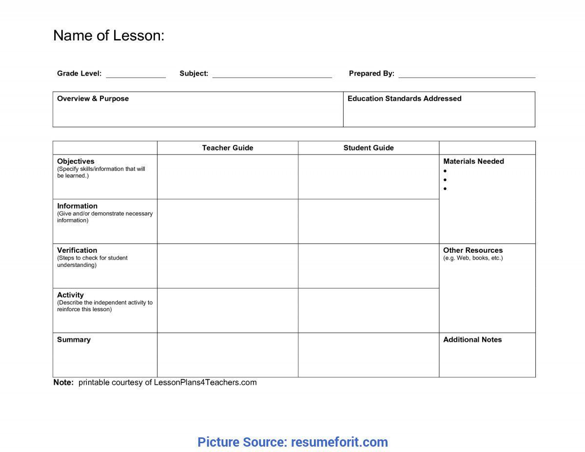 008 Stunning Lesson Plan Format Word Doc Idea  Outline TemplateFull