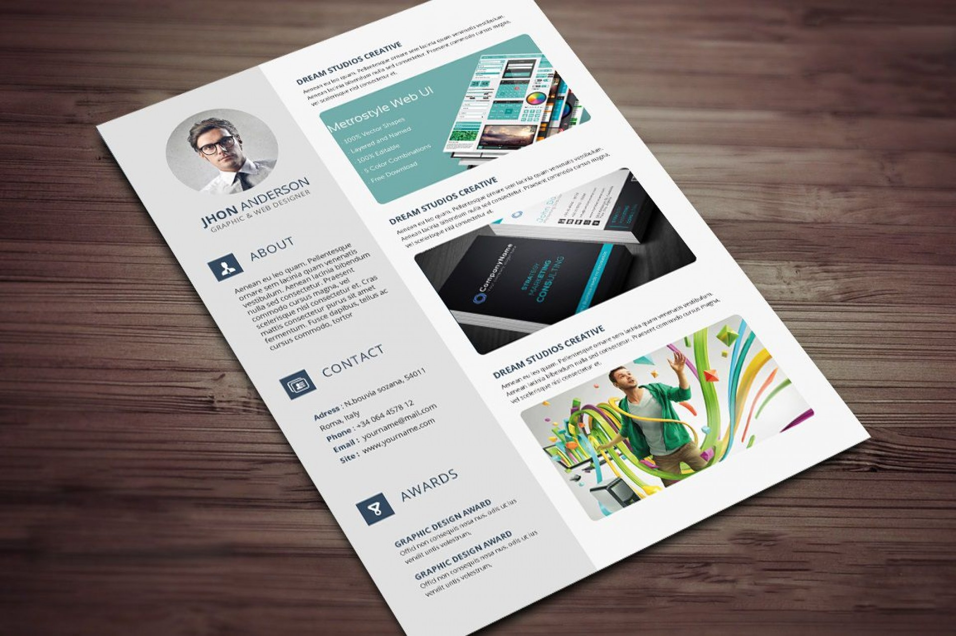 008 Stunning Microsoft Word Portfolio Template High Def  Career Professional Free Download1920