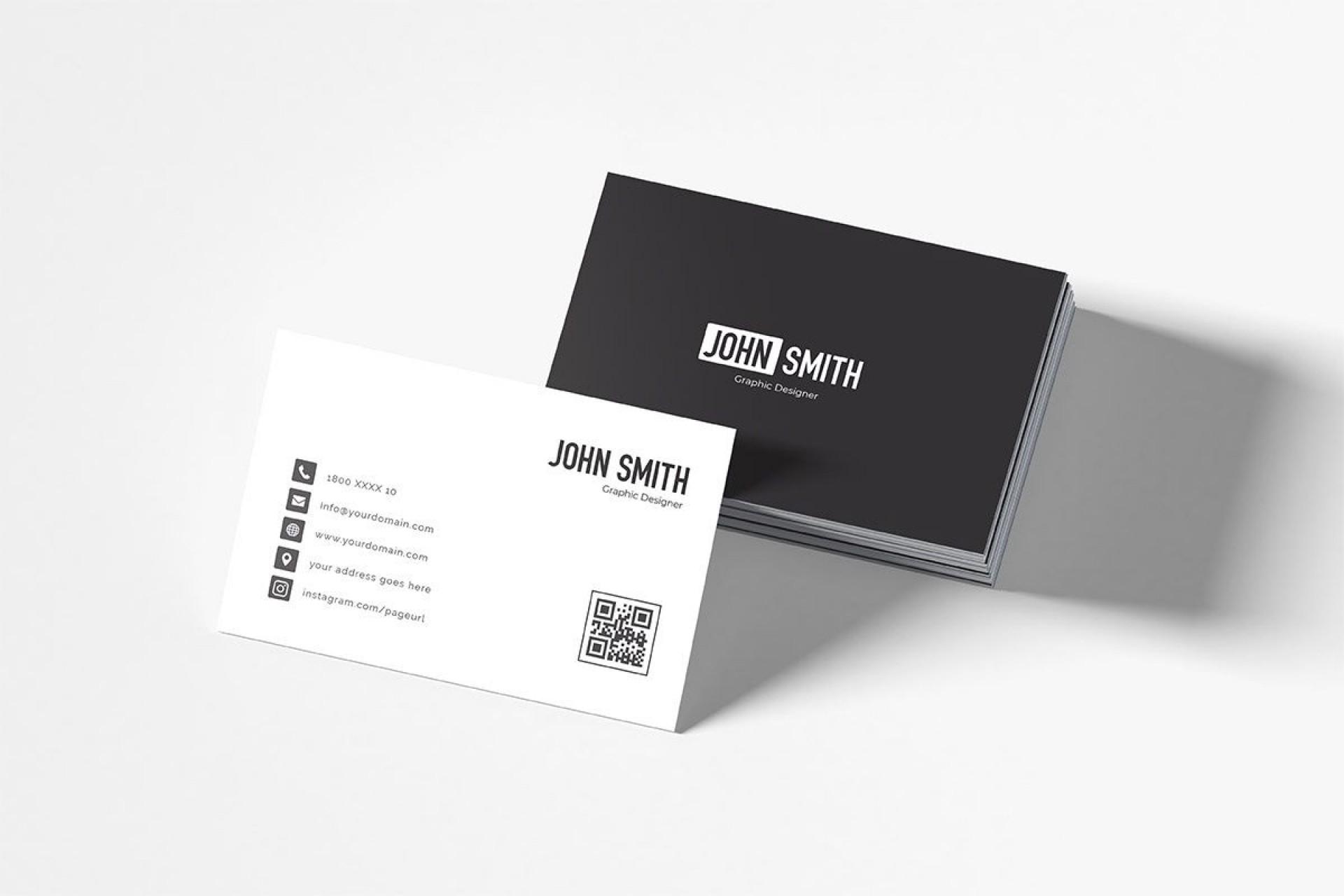 008 Stunning Minimalist Busines Card Template Free Image  Minimal Psd1920