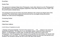 008 Stunning Portrait Photography Contract Template Highest Quality  Pdf Australia