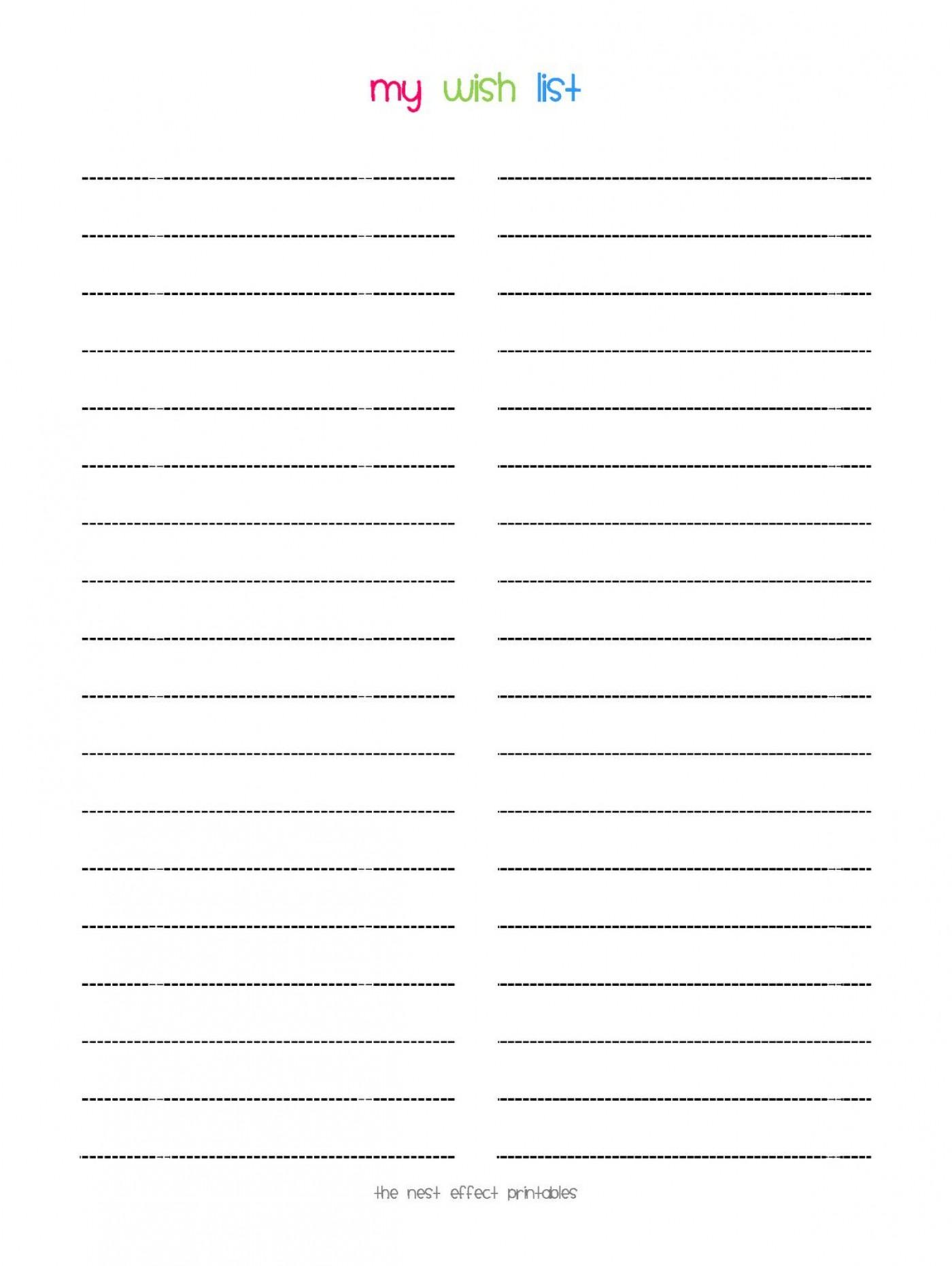 008 Stunning Printable Wish List Template Idea  Santa Free Secret1400