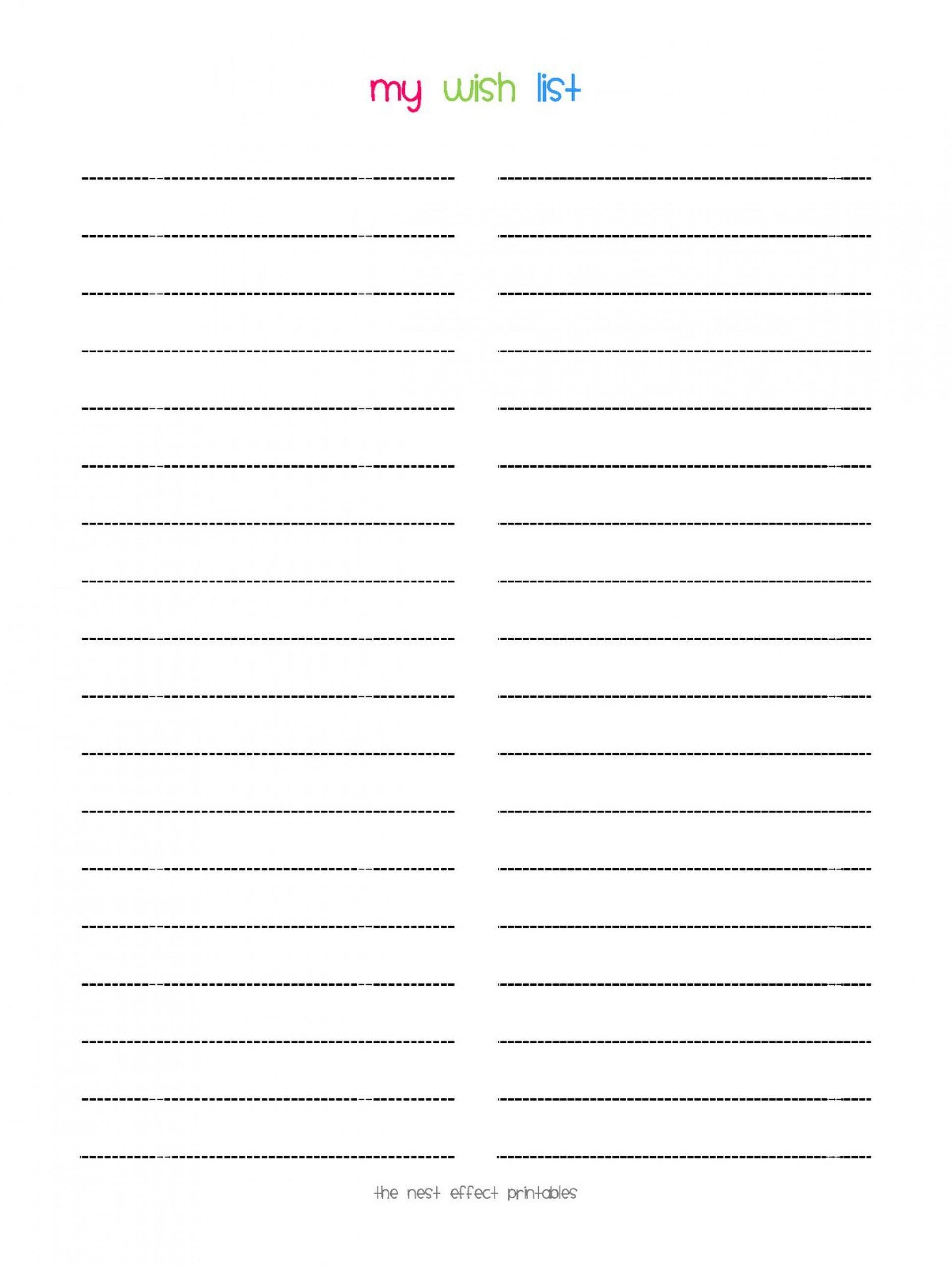 008 Stunning Printable Wish List Template Idea  Cute Christma Free Holiday1920