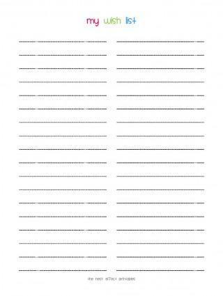 008 Stunning Printable Wish List Template Idea  Santa Free Secret320
