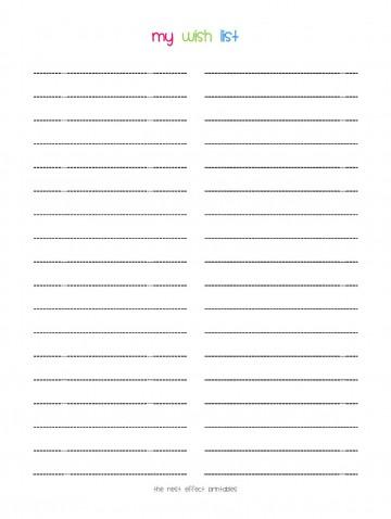 008 Stunning Printable Wish List Template Idea  Santa Free Secret360