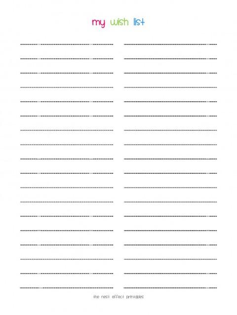 008 Stunning Printable Wish List Template Idea  Santa Free Secret480