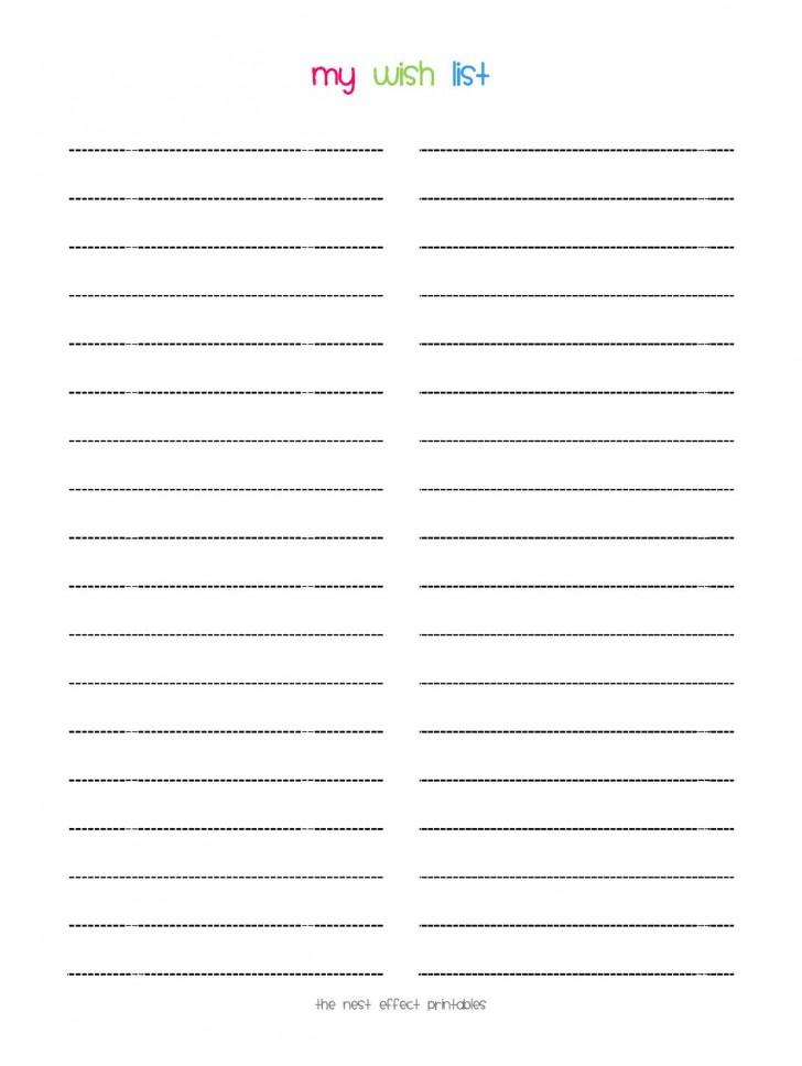 008 Stunning Printable Wish List Template Idea  Santa Free Secret728