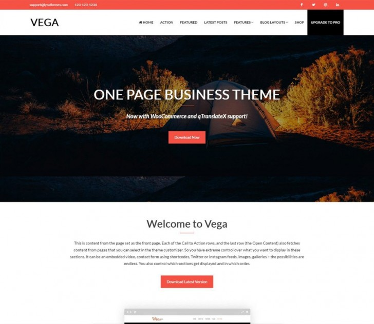 008 Stunning Professional Busines Website Template Free Download Wordpres Highest Quality 728
