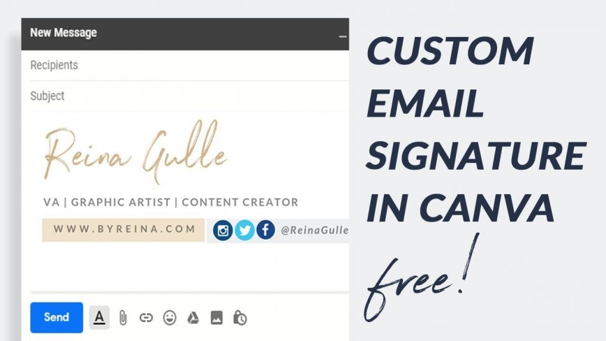 008 Stunning Professional Email Signature Template Image  Free Html Download868