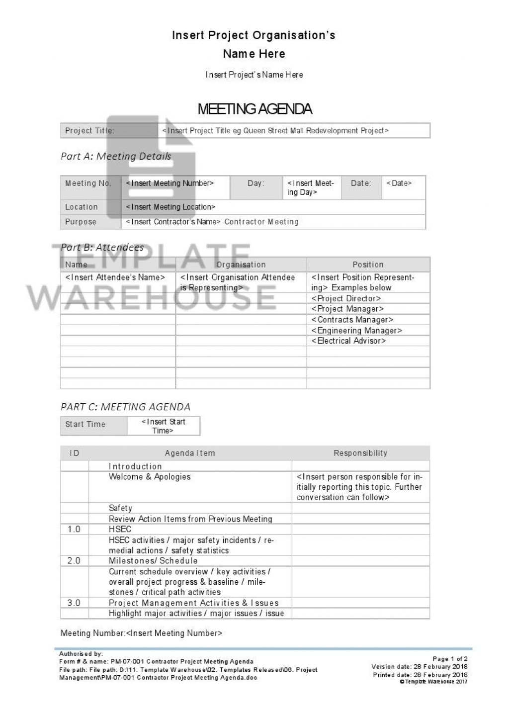 008 Stunning Project Kickoff Meeting Template Doc High Definition Large