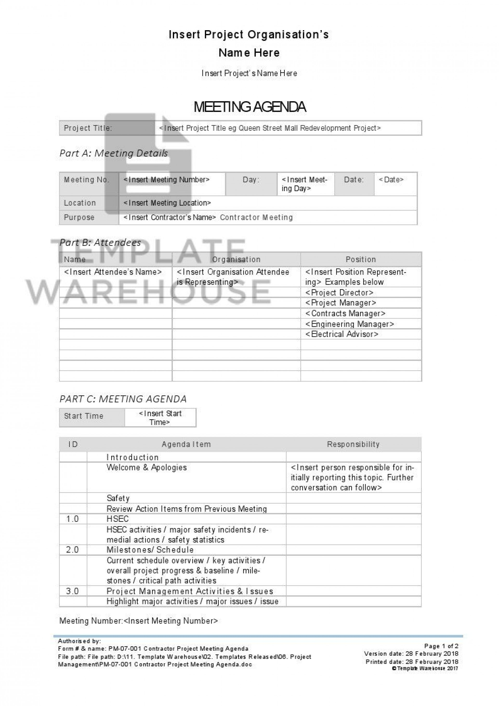 008 Stunning Project Kickoff Meeting Template Doc High Definition 1920