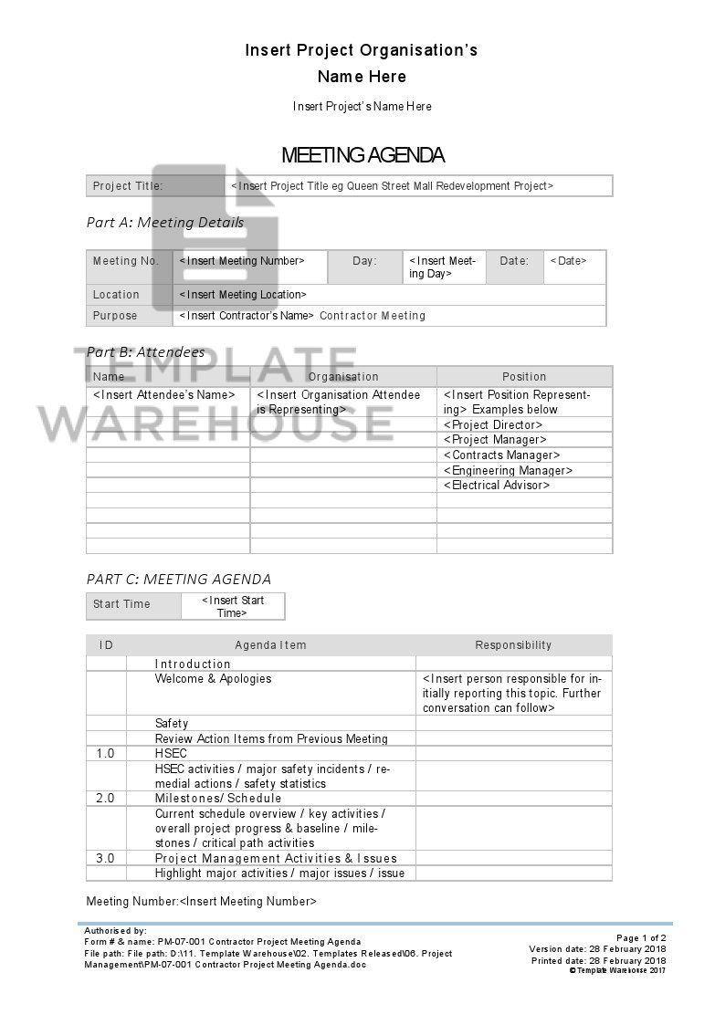 008 Stunning Project Kickoff Meeting Template Doc High Definition Full