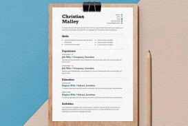 008 Stunning Resume Template Word Free Photo  Download 2020 Doc