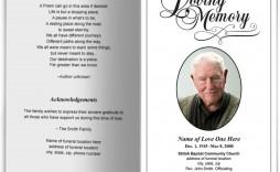 008 Stunning Simple Funeral Program Template Free Design  Download