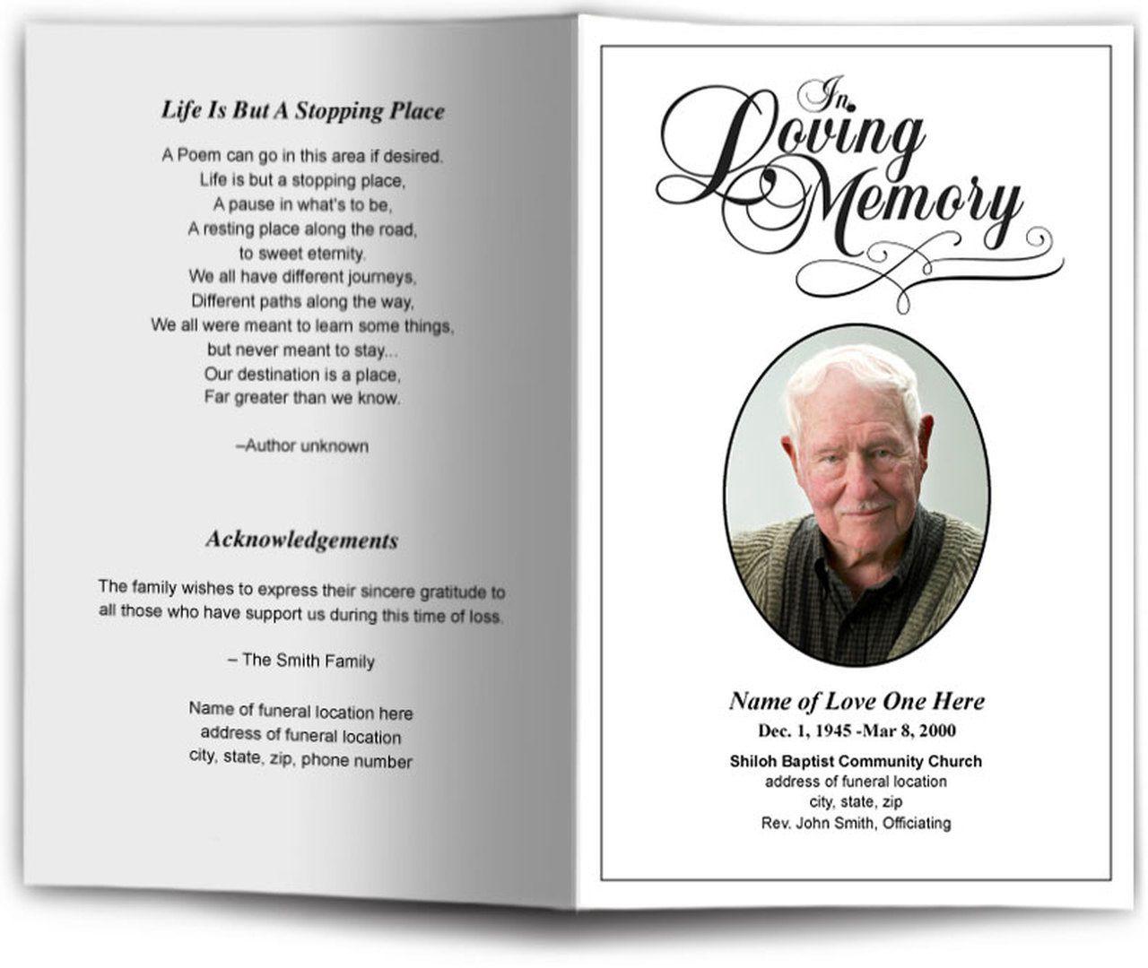 008 Stunning Simple Funeral Program Template Free Design  DownloadFull